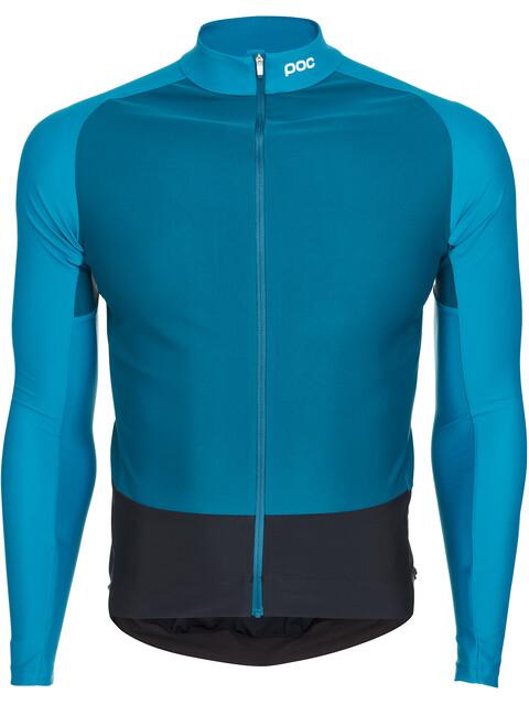 POC Essential Road Fietsshirt lange mouwen Heren blauw/zwart